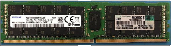 HPE P03053-0A1 64GB (1x64GB) Dual Rank x4 2933MHz 288-Pin DDR4-2933 CL21 (CAS-21-21-21) ECC Registered Load Reduced (LRDIMM) Smart Memory Kit for ProLiant Gen10 Servers (Brand New with 3 Years Warranty)