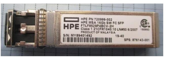 HPE 876143-001 16Gbps Short Wave (Short Range) Fibre Channel SFF Pluggable SFP+ 4-Pack Transceiver Module for Modular Smart Array 1040/2040 SAN Storage (Brand New with 3 Years Warranty)