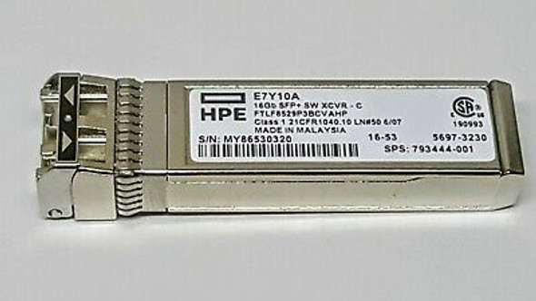 HPE 793444-001 16Gb Fibre Channel Short Wave SFP+ Transceiver Module (New Bulk with 1 Year Warranty)