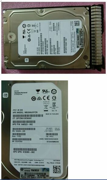 HPE 872485-K21 2TB 7200RPM 3.5inch LFF Digitally Signed Firmware 512n Dual Port SAS-12Gbps Smart Carrier Midline Hard Drive for ProLiant Gen9 Gen10 Servers (Brand New with 3 Years Warranty)
