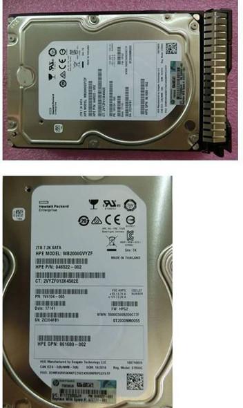 HPE 872489-K21 2TB 3.5inch LFF 7200RPM 512e Digitally Signed Firmware SATA-6Gbps Smart Carrier Hot-Swap Midline Hard Drive for ProLiant Gen9 Gen10 Servers (Brand New with 3 Years Warranty)