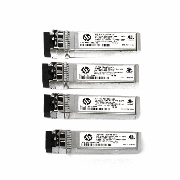 HPE C8R23A 8Gbps Short Wave Fibre Channel SFP+ 4-Pack Transceiver Module for Modular Smart Array 2040 SAN Storage (New Bulk with 1 Year Warranty)