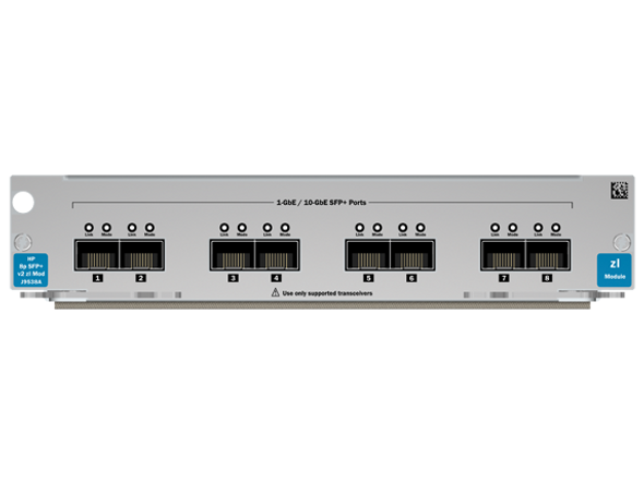 HPE ProCurve J9538A 8-Port 10Gbps Ethernet SFP+ v2 zl Module for E5400/E8200 Series zl Switches (Grade A with 90 Days Warranty)