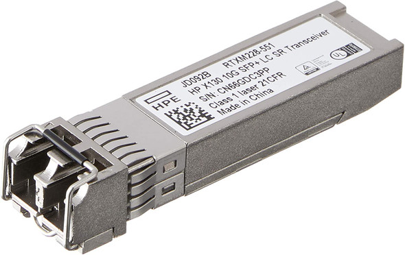 HPE JD092B x130 1 x Ethernet 10GBase-SR-LC SFP+ 850nm 550m Plug-in Module Transceiver Module (Brand New with 3 Years Warranty)