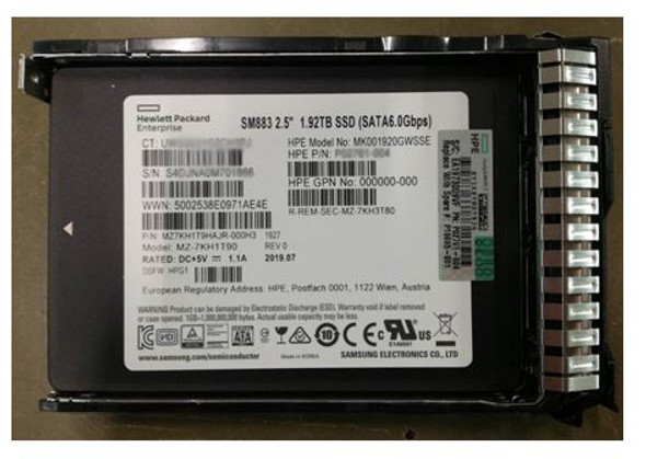 HPE P19695-001 1.92TB 2.5inch SFF SATA-6Gbps Smart Carrier Multi Vendor Mixed Use Solid State Drive for ProLiant Gen8 Gen9 Gen10 Servers (Brand New with 3 Years Warranty)