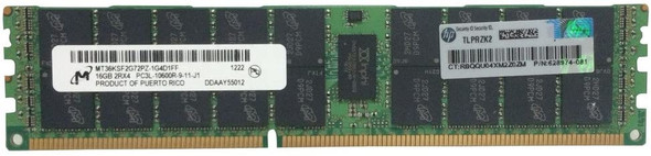 HPE 632204-001 16GB (1x16GB) Dual Rank x4 PC3L-10600 DDR3-1333 240-Pin ECC Registered CL9 (CAS-9-9-9) SDRAM LP (Low Power) Memory Kit for ProLiant Gen6 Gen7 Servers (New Bulk Pack with 1 Year Warranty)