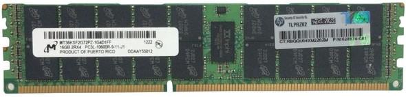HPE 632204-001 16GB (1x16GB) Dual Rank x4 PC3L-10600 DDR3-1333 240-Pin ECC Registered CL9 (CAS-9-9-9) SDRAM LP (Low Power) Memory Kit for ProLiant Gen6 Gen7 Servers (New Bulk Pack with 1 Year Warranty)