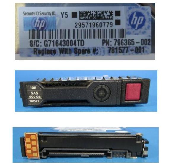 HPE 781577-001 600GB 10000RPM 2.5inch SFF SAS-12Gbps Smart Carrier Enterprise Hard Drive for ProLiant Gen8 Gen9 Gen10 Servers (Grade A with Lifetime Warranty)