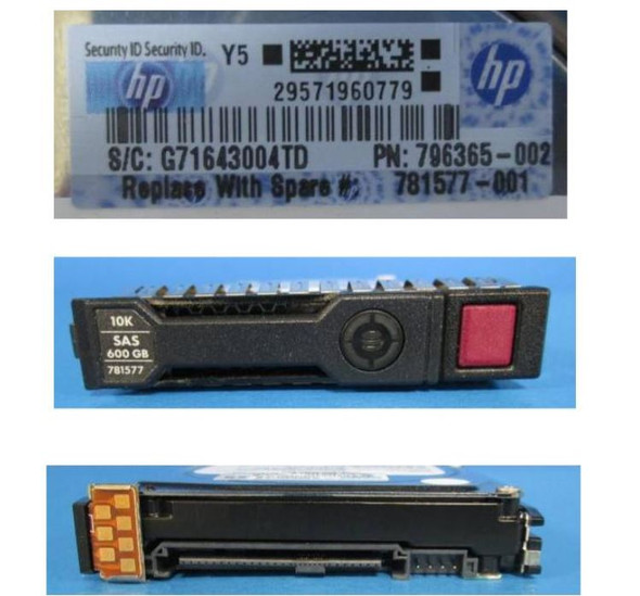 HPE EG000600JWEBH-SC 600GB 10000RPM 2.5inch SFF SAS-12Gbps Smart Carrier Enterprise Hard Drive for ProLiant Gen8 Gen9 Gen10 Servers (Grade A with Lifetime Warranty)