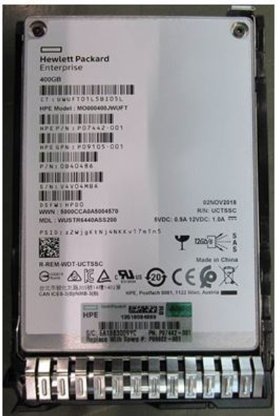 HPE P09105-001 400GB 2.5inch SFF TLC Digitally Signed Firmware SAS-12Gbps Smart Carrier Mixed Use Solid State Drive for ProLiant Gen8 Gen9 Gen10 Servers (Brand New With 3 Years Warranty)