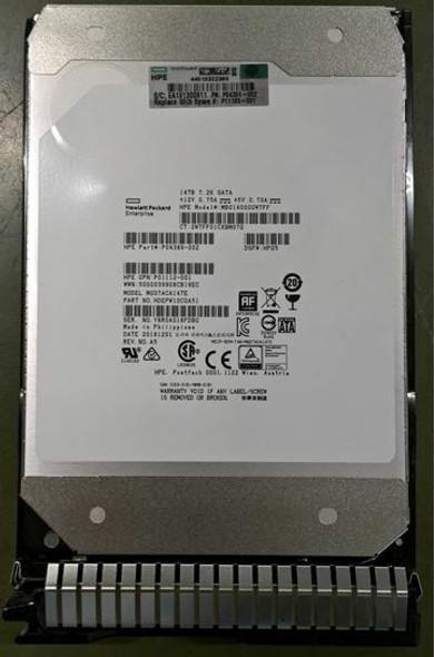 HPE Helium P11185-001 14TB 7200RPM 3.5inch LFF 512e Digitally Signed Firmware SATA-6Gbps Smart Carrier Midline Hard Drive for ProLiant Gen8 Gen9 Gen10 Servers (New Bulk Pack with 1 Year Warranty)