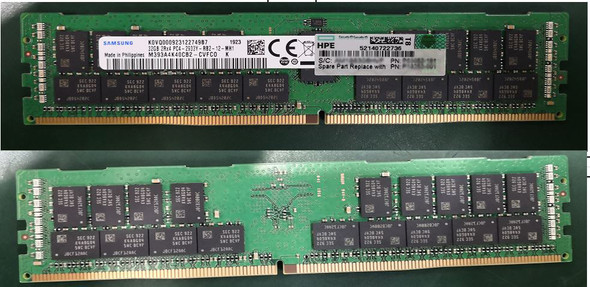 HPE P03053-1A1 64GB (1x64GB) Dual Rank x4 2933MHz 288-Pin PC4-2933Y-R DDR4-2933 CL21 (CAS-21-21-21) ECC Registered RDIMM Smart Memory Kit for ProLiant Gen10 Servers (Brand New with 3 Years Warranty)