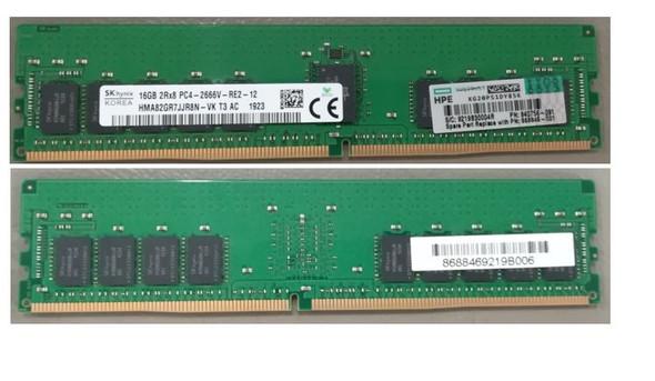 HPE 840756-091 16GB (1x16GB) Dual Rank x8 2666MHz 288-Pin PC4-2666V-R DDR4-2666 CL19 (CAS-19-19-19) ECC Registered RDIMM Smart Memory Kit for ProLiant Gen10 Servers (Brand New With 3 Years Warranty)
