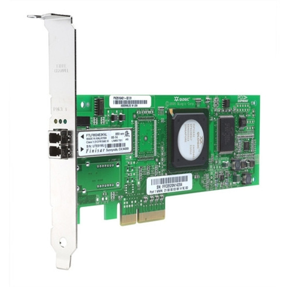 HPE StorageWorks FC1142SR 407620-001 Single Port 4Gbps Ethernet PCI Express x4 Fibre Channel Host Bus Adapter for ProLaint Generation5 Generation6 Generation7 and Storageworks Servers