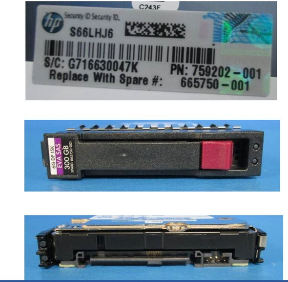 HPE 652625-002 300GB 15000RPM 2.5inch Small Form Factor SAS-6Gbps Hard Drive for EVA P6000 Series and M6625 Disk Enclosures (New Bulk Pack With 1 Year Warranty)