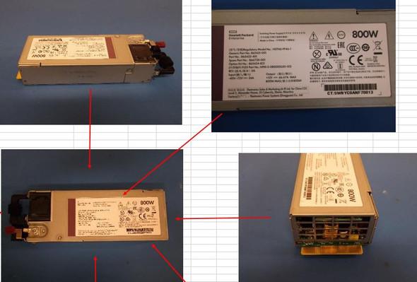 HPE 865434-B21 800Watt Flex Slot Hot Plug Low Halogen Power Supply Kit for ProLiant Gen9 Gen10 Servers (New Bulk  With 1 Year Warranty)