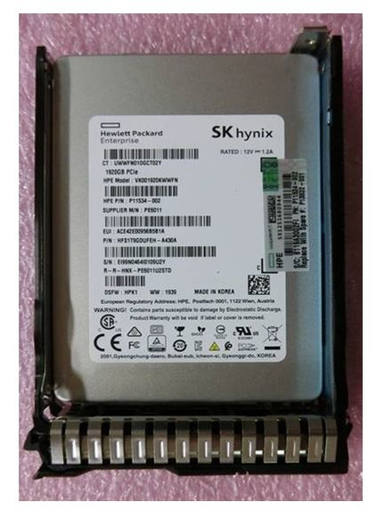 HPE P13678-K21 1.92TB 2.5inch Small Form Factor TLC Digitally Signed Firmware NVMe U.2 PCIe x4 Mainstream Performance SCN Read Intensive Solid State Drive for ProLiant G8 G9 G10 Servers (New Bulk Pack With 1 Year Warranty - ETA 3 Weeks)