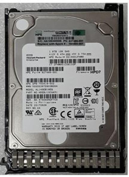 HPE 765879-001-SC 1.8TB 10000RPM 2.5inch SFF 512e Dual Port SAS-12Gbps Enterprise Hard Drive for ProLaint Gen8 Gen9 Gen10 Servers (Brand New with 3 Years Warranty)