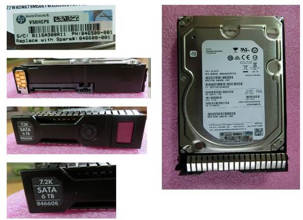 HPE 846510-H21 6TB 7200RPM 3.5inch LFF Digitally Signed Firmware SATA-6Gbps Smart Carrier Midline Hard Drive for ProLiant Gen8 Gen9 Gen10 Servers (Brand New with 3 Years Warranty)