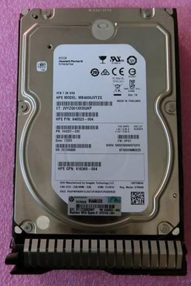 HPE 872487-B21 4TB 7200RPM 3.5inch LFF SAS-12Gbps Digitally Signed Firmware SC Midline Hard Drive for ProLiant Gen9 Gen10 Servers (New Bulk Pack with 1 Year Warranty)