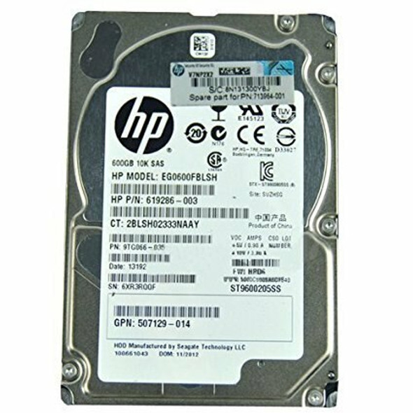 HPE 693569-007 600GB 10000RPM 2.5inch Small Form Factor Dual Port SAS-6Gbps Hot-Swap Enterprise Hard Drive for ProLiant Generation1 to Generation7 Servers