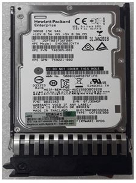 HPE 785407-001 300GB 15000RPM 2.5inch Small Form Factor SAS-12Gbps Dual Port Enterprise Internal Hard Drive for ProLiant Gen1 to Gen7 Server and Storage Arrays (Grade A with Lifetime Warranty)