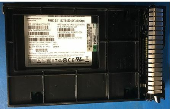 """HPE P02760-004-SCC 1.92TB 3.5inch LFF Digitally Signed Firmware SATA-6Gbps SCC Read Intensive Solid State Drive for ProLiant Gen9 Gen10 Servers (New Bulk """"O"""" Hour With 1 Year Warranty)"""
