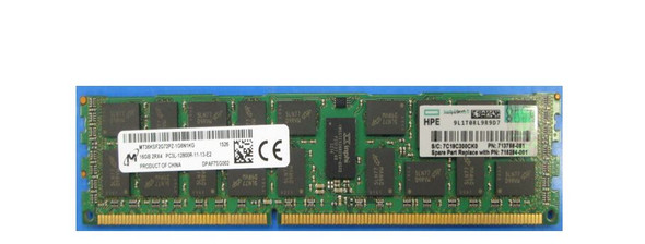 "HPE 715284-001 16GB (1x16GB) 2R x4 PC3L-12800R DDR3 -1600 Registered CAS-11 Low Voltage Memory Kit (New Bulk ""O"" Hour With 1 Year Warranty)"