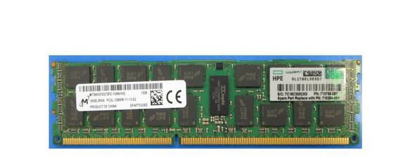 "HPE 713756-081 16GB (1x16GB) 2R x4 PC3L-12800R DDR3 -1600 Registered CAS-11 Low Voltage Memory Kit (New Bulk ""O"" Hour With 1 Year Warranty)"