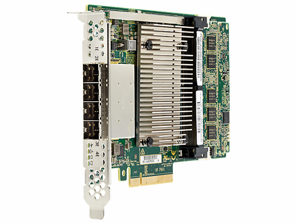 HPE 726903-B21 Smart Array P841 SAS-12GB 4-Ports PCI Express 3.0 x8 Flash Backed Write-back Cache Controller for ProLaint Gen9 Servers (Brand New with 3 Years Warranty)