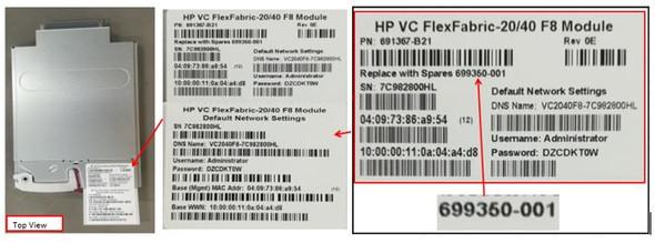 HPE 699350-001 40GB Ethernet 28-Port Virtual Connect FLEXFABRIC-20/40 F8 Module for C-Class Bladesystem (Grade A with 90 Days Warranty)