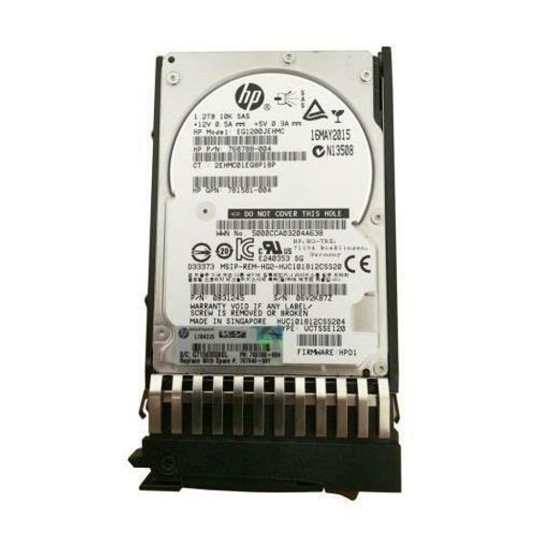 HPE EG001200JWJNQ 1.2TB 10000RPM 2.5inch SFF Dual Port SAS-12Gbps Enterprise Hard Drive for MSA 1040/2040 SAN Storage (Brand New with 3 Years Warranty)