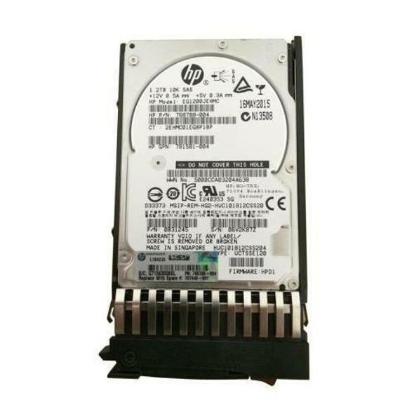 HPE EG1200JETKC 1.2TB 10000RPM 2.5inch SFF Dual Port SAS-12Gbps Enterprise Hard Drive for MSA 1040/2040 SAN Storage (Brand New with 3 Years Warranty)