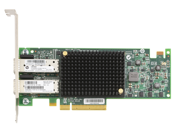 HPE StoreFabric CN1200E 827607-001 10GBASE-T Dual Port PCI Express 3.0 x8 iSCSI FCoE Converged Network Adapter (Brand New with 3 Years Warranty)