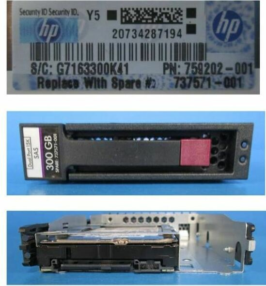 HPE EH000300JWCPK 300GB 15000RPM 3.5inch LFF SAS-12Gbps Enterprise Hard Drive for ProLiant Gen2 to Gen7 Servers (New Bulk Pack With 1 Year Warranty)