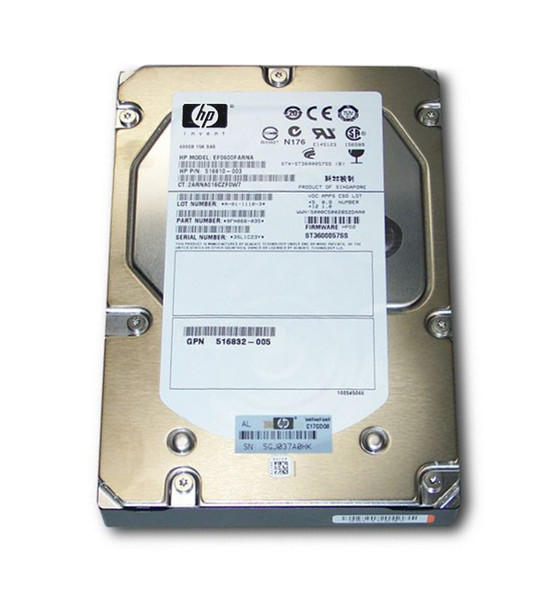 HPE EF0600FARNA 600GB 15000RPM 3.5inch LFF Dual Port SAS-6Gbps Enterprise Hard Drive for ProLiant Gen5 to Gen7 Servers (New Bulk with 1 Year Warranty)