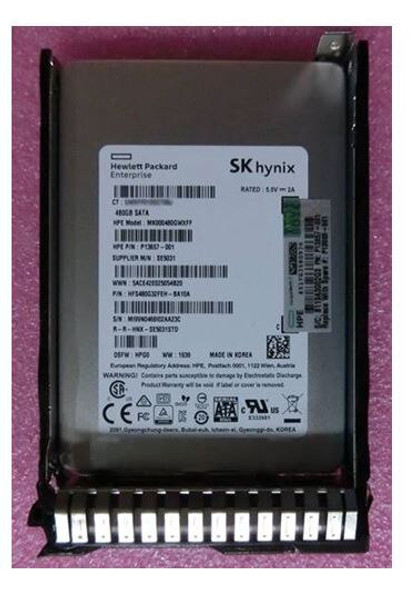 """HPE P13658-K21 480GB 2.5inch SFF Triple-level cell Digitally Signed Firmware SATA-6Gbps Smart Carrier Mixed Use Solid State Drive for ProLiant Gen8 Gen9 Gen10 Servers (New Bulk """"O"""" Hour With 1 Year Warranty)"""