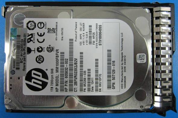 HPE 605832-002-SC 1TB 7200RPM 2.5inch SFF SAS-6Gbps Smart Carrier Hot-Swap Midline Hard Drive for ProLiant Gen8 Gen9 Gen10 Servers (Grade A - Clean with Lifetime Warranty)