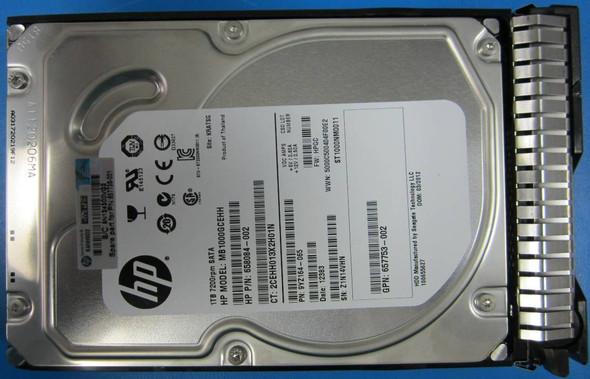 HPE 657753-002 1TB 7200RPM 3.5inch LFF SATA-6Gbps Smart Carrier Hot-Swap Midline Hard Drive for ProLiant Gen8 Gen9 Gen10 Servers (New Bulk Pack with 1 Year Warranty)