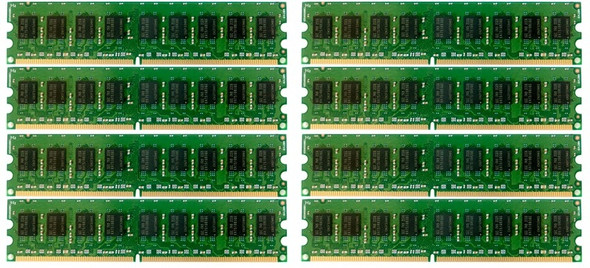 HPE 495605-B21 64GB (8x8GB) Dual Rank x4 667MHz ECC Registered CL5 (CAS-5-5-5) PC2-5300 240Pin DIMM DDR2 SDRAM Memory Kit for ProLiant Gen5 Gen6 Gen7 Servers (New Bulk Pack with 1 Year Warranty)