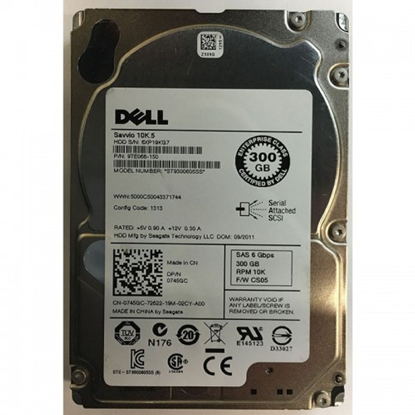 Dell 754GC 300GB 10000RPM 2.5inch SFF 64MB Buffer SAS-6Gb/S Hot-Swap Enterprise Hard Drive for PowerEdge Servers (New Bulk Pack with 1 Year Warranty)