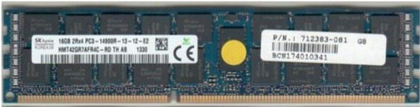 HPE 712383-081 16GB (1x16GB) 1866 MHz 240-Pin PC3-14900 ECC Registered CL-13 (13-13-13) Dual Rank DIMM DDR3 SDRAM Memory for ProLiant Gen8 Server (New Bulk Pack with 1 Year Warranty)
