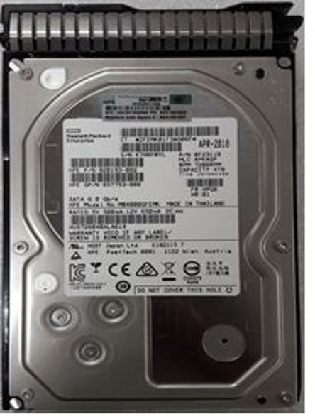 HPE MB4000GCWDC-SC 4TB 7200RPM 3.5inch Large Form Factor SATA-6Gbps Smart Carrier Midline Hard Drive for ProLiant Gen8 Gen9 Gen10 Servers (New Bulk Pack with 1 Year Warranty)