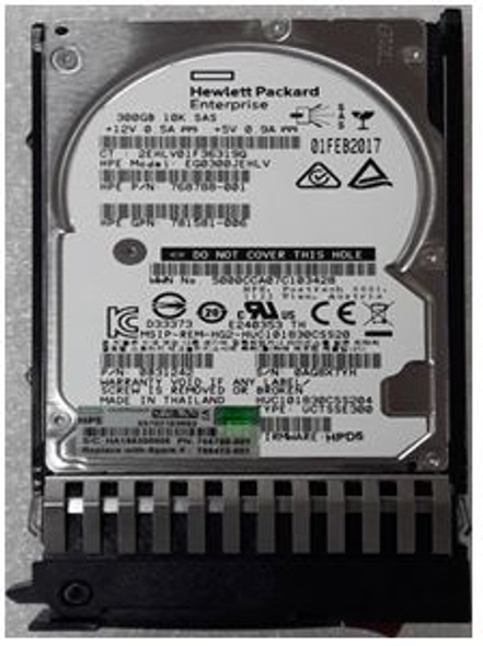 HPE 785071-B21 300GB 10000RPM 2.5inch Small Form Factor Dual Port SAS-12Gbps Enterprise Hard Drive for ProLiant Generation1 to Generation7 Servers (Grade A with Lifetime Warranty)