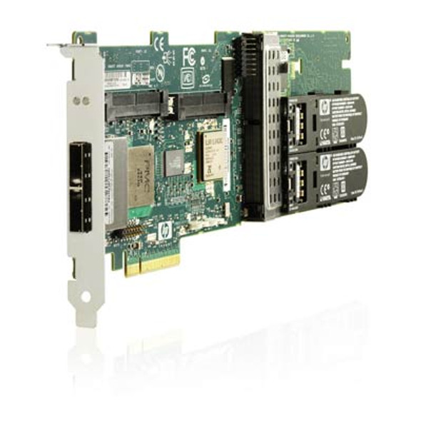 HPE 462918-001 P411 256 MB Dual Port PCI Express -2.0 x8 SAS/SATA Plug-in Card Low Profile Smart Array Flash Backed Write Cache RAID Controller (90 Days Warranty)