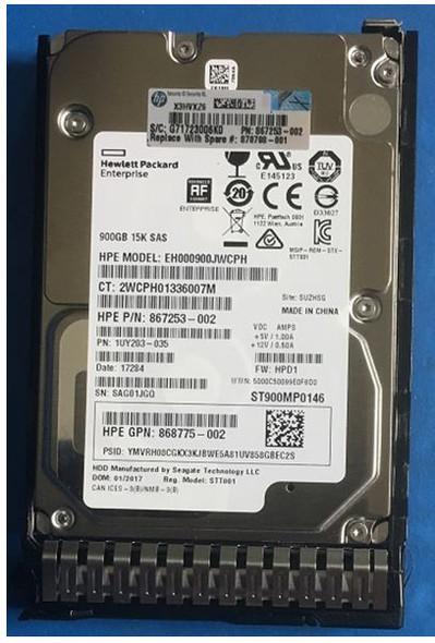 HPE 450GB SAS 12G ENTERPRISE 15K SFF 2.5IN 759210-B21 759547-001