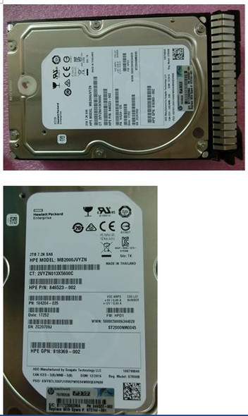 HPE 872744-001 2TB 7200RPM 3.5inch LFF Digitally Signed Firmware 512n Dual Port SAS-12Gbps Smart Carrier Midline Hard Drive for ProLiant Gen9 Gen10 Servers (Brand New with 3 Years Warranty)