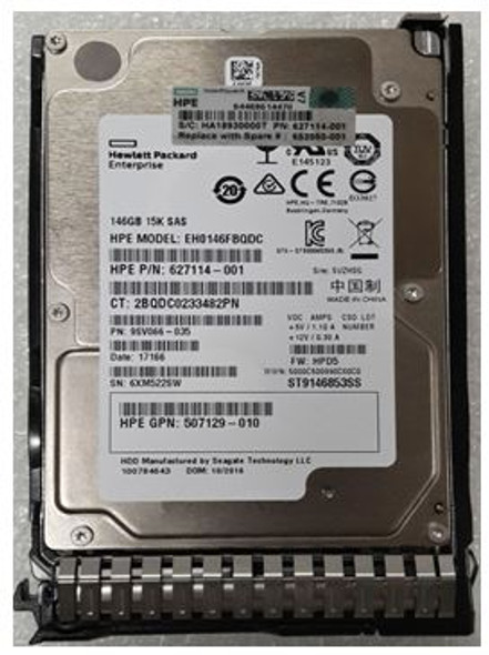 HPE 652605-B21 146GB 15000RPM 2.5inch SFF SAS-6Gbps Smart Carrier Hot-Swap Internal Enterprise Hard Drive for ProLiant Gen8 Gen9 Gen10 Servers (Grade A with Lifetime Warranty)