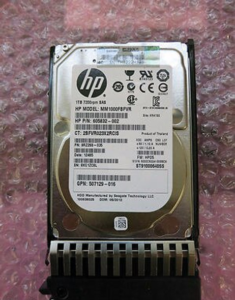 HPE 757387-001 1TB 7200RPM 2.5inch SFF Dual Port SAS-6Gbps Midline Hard Drive for ProLiant Gen4 to Gen7 Servers (New Bulk Pack with 1 Year Warranty)