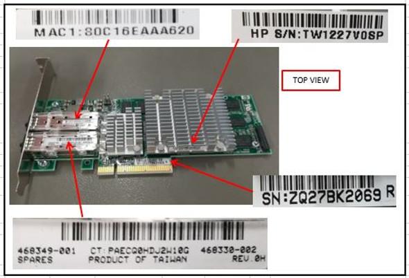 HPE 468332-B21 10Gbps Dual Port PCI Express - 2.0 x8 Gigabit Ethernet Wired Network Adapter for ProLiant Gen5 Gen6 Gen7 Servers (New Bulk Pack with 1 Year Warranty)